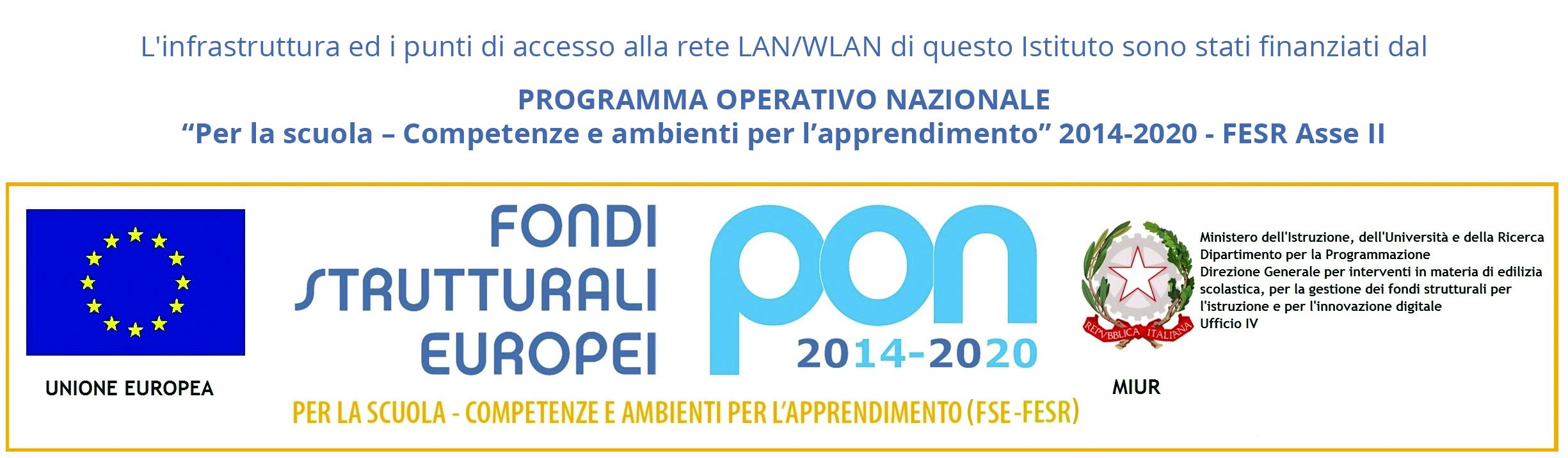 pon fondi strutturali europei 2014/2020